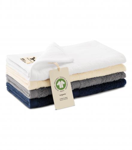 Organic malý ručník unisex námořní modrá
