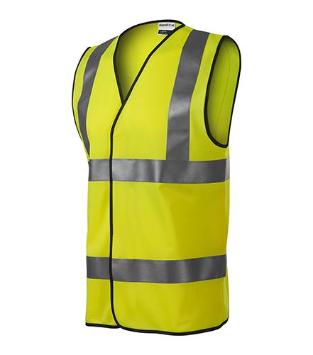 HV Bright bezpečnostní vesta unisex fluorescenční žlutá