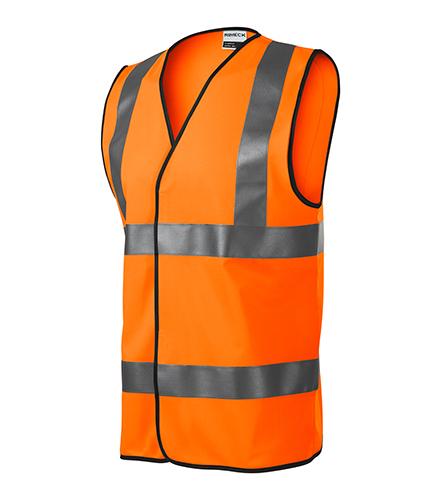 HV Bright bezpečnostní vesta unisex fluorescenční oranžová