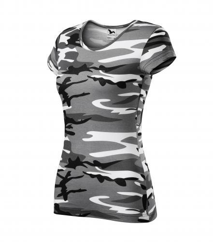 Camo Pure tričko dámské camouflage gray