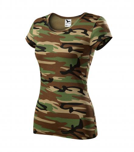 Camo Pure tričko dámské camouflage brown