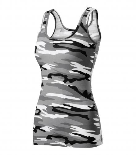 Camo Triumph tílko dámské camouflage gray