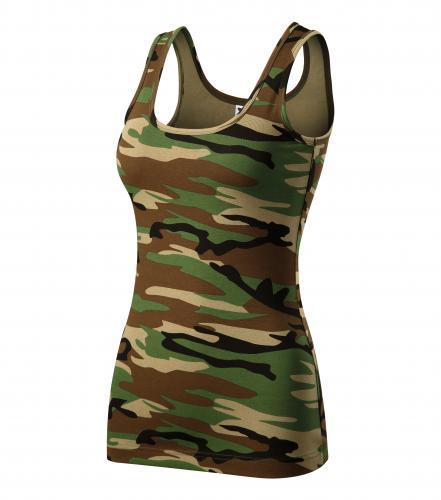 Camo Triumph tílko dámské camouflage brown
