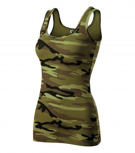 Camo Triumph tílko dámské camouflage green
