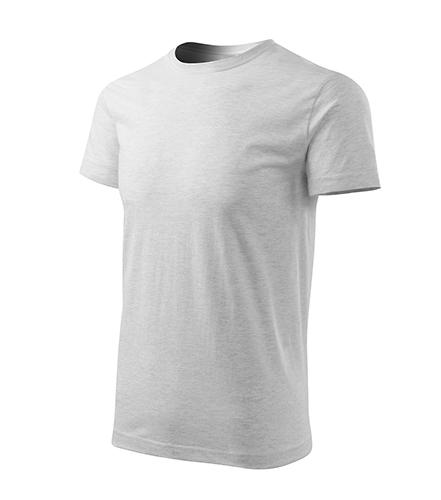 Basic Free tričko pánské světle šedý melír