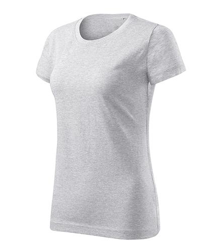Basic Free tričko dámské světle šedý melír