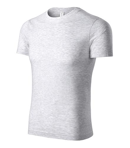 Paint tričko unisex světle šedý melír