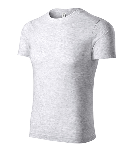 Peak tričko unisex světle šedý melír