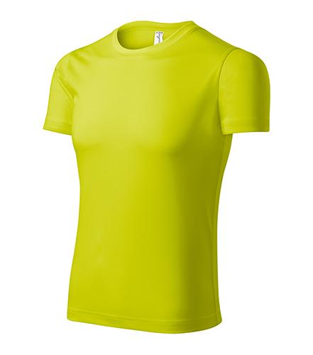 Pixel tričko unisex neon yellow