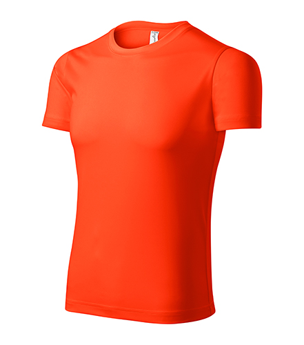 Pixel tričko unisex neon orange