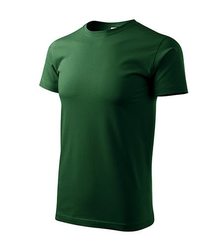 Basic tričko pánské lahvově zelená