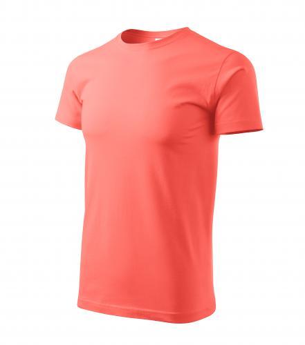 Basic tričko pánské korálová