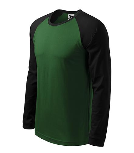Street LS triko pánské lahvově zelená