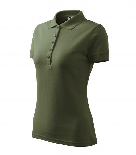 Pique Polo polokošile dámská khaki