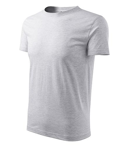 Classic New tričko pánské světle šedý melír