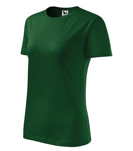Classic New tričko dámské lahvově zelená