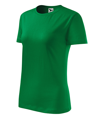 Classic New tričko dámské středně zelená