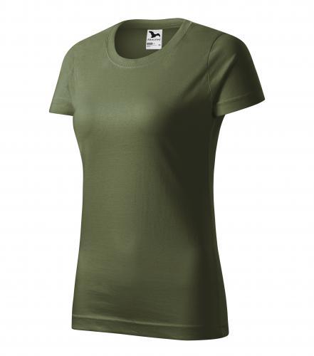 Basic tričko dámské khaki