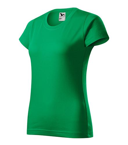 Basic tričko dámské středně zelená