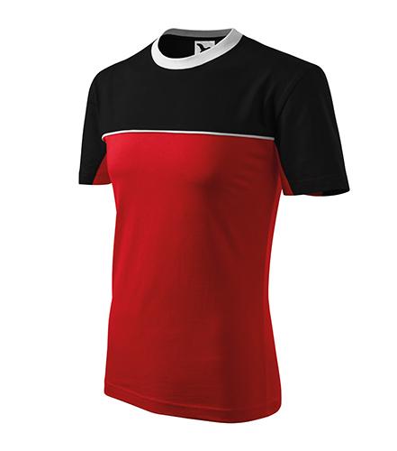Colormix tričko unisex červená