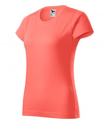 Basic tričko dámské korálová