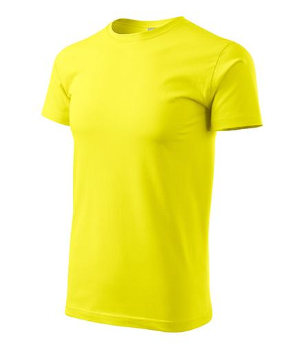 Heavy New tričko unisex citronová