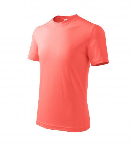 Basic tričko dětské korálová