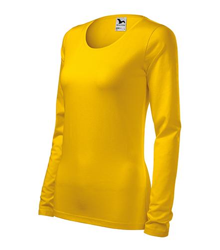 Slim triko dámské žlutá