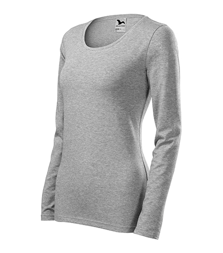 Slim triko dámské tmavě šedý melír