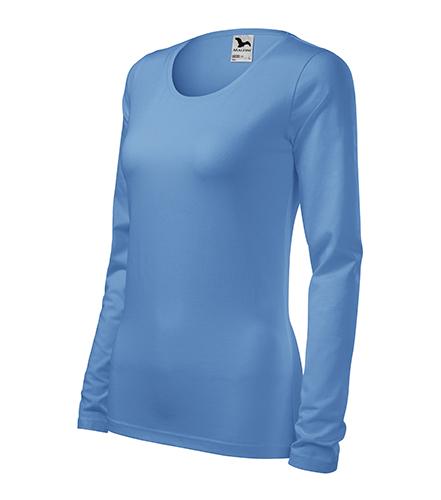 Slim triko dámské nebesky modrá