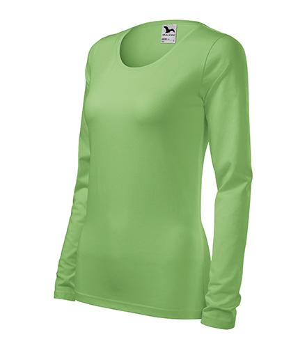 Slim triko dámské trávově zelená