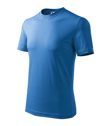 Heavy tričko unisex azurově modrá