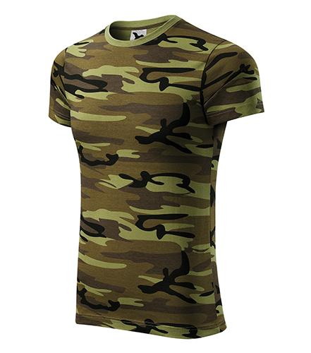Camouflage tričko unisex camouflage green