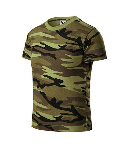 Camouflage tričko dětské camouflage green