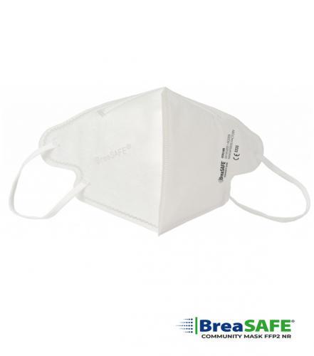 BreaSAFE®  COMMUNITY MASK FFP2 filtrační polomaska unisex bílá