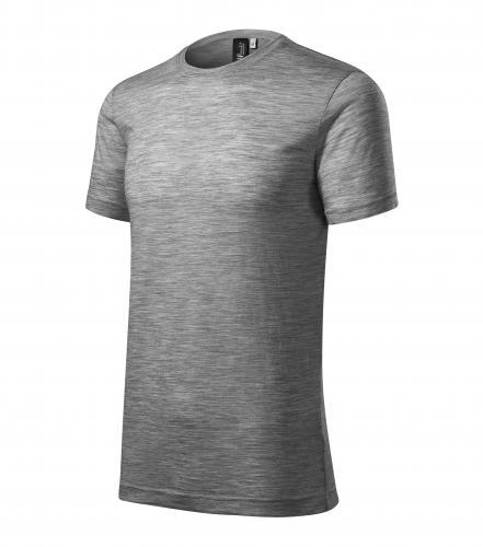 Merino Rise tričko pánské tmavě šedý melír