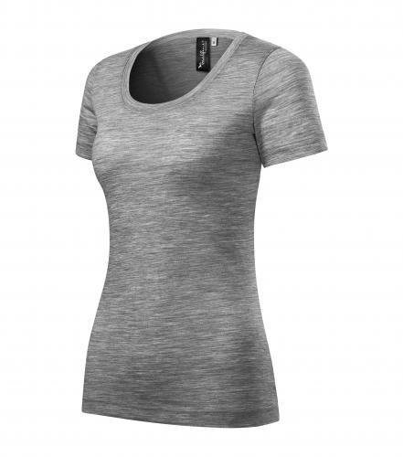 Merino Rise tričko dámské tmavě šedý melír