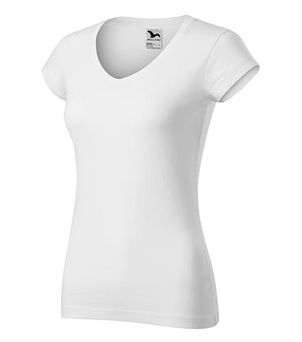 Fit V-neck tričko dámské bílá