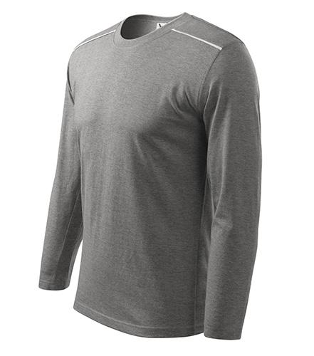 Long Sleeve triko unisex tmavě šedý melír