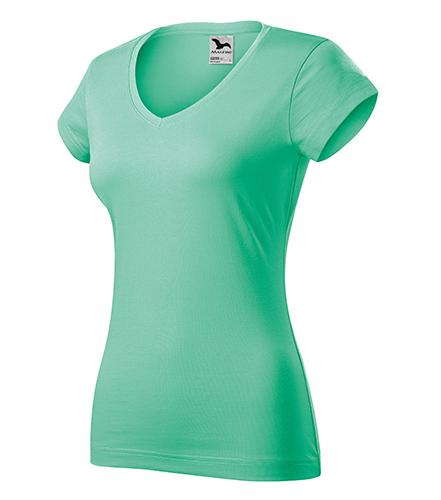 Fit V-neck tričko dámské mátová