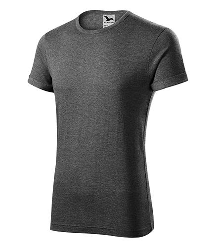 Fusion tričko pánské černý melír