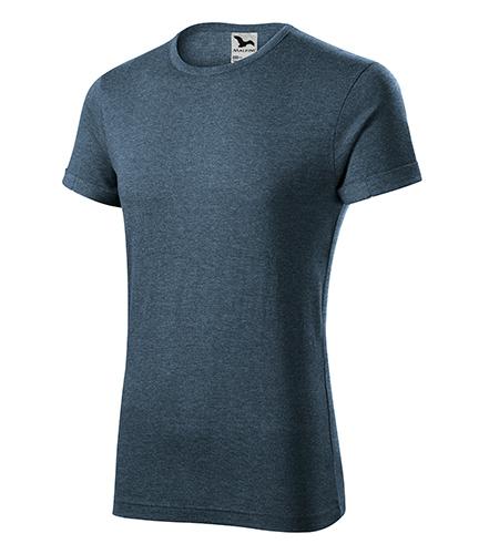 Fusion tričko pánské tmavý denim melír