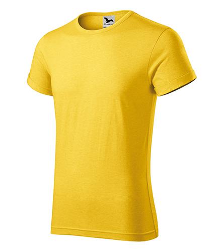 Fusion tričko pánské žlutý melír