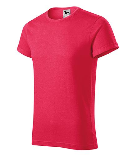Fusion tričko pánské červený melír