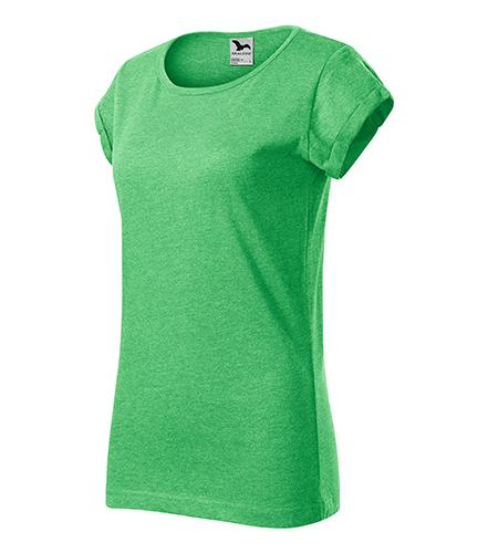 Fusion tričko dámské zelený melír