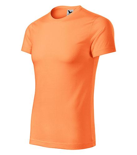 Star tričko unisex neon mandarine