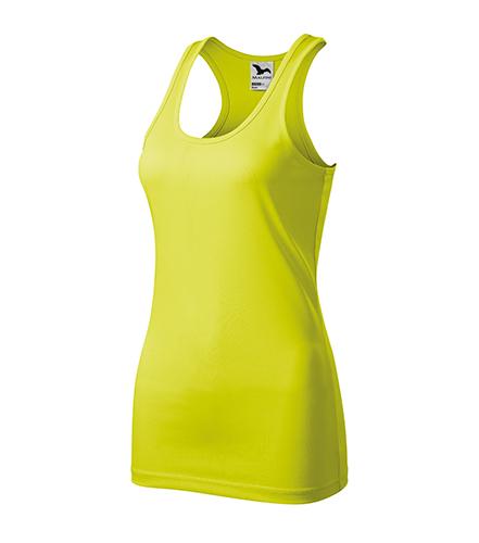 Racer tílko dámské neon yellow