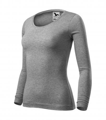 Fit-T LS triko dámské tmavě šedý melír