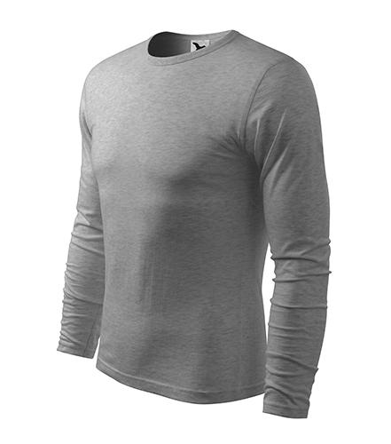 Fit-T LS triko pánské tmavě šedý melír