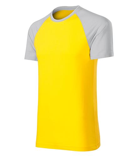 Duo tričko unisex žlutá